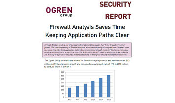 Ogren Group Security Report: Firewall Analysis Saves Time Keeping Application Paths Clear