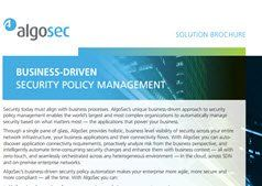 The AlgoSec Security Management Solution