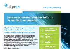 AlgoSec Corporate Overview