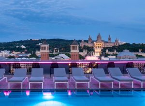rooftop pool plaza catalonia hotel barcelona