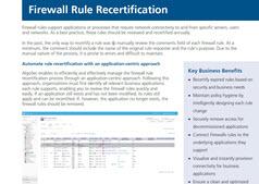 firewall Rule re certification