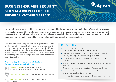 Business-driven Security Management For The Federal Governments